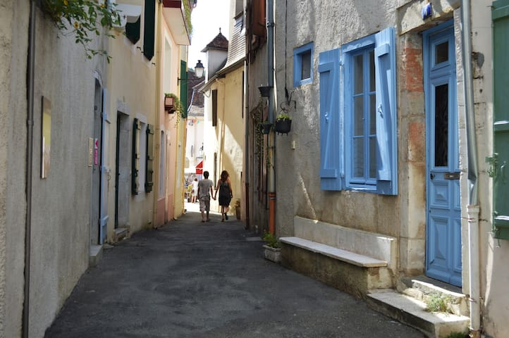 Cute house in medieval town center - Salies-de-Béarn - Casa