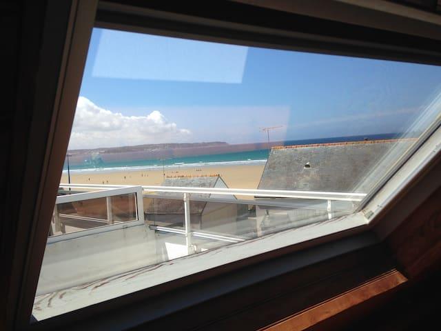 Appart' en bord de mer, 50m de la plage de Kervel - Plonévez-Porzay - Appartement