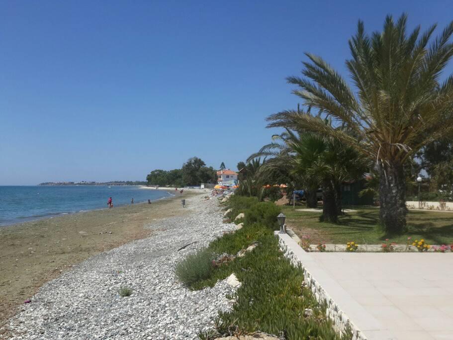 Very clean beach.