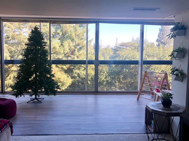 Christmas oasis - floor to ceiling windows, w view