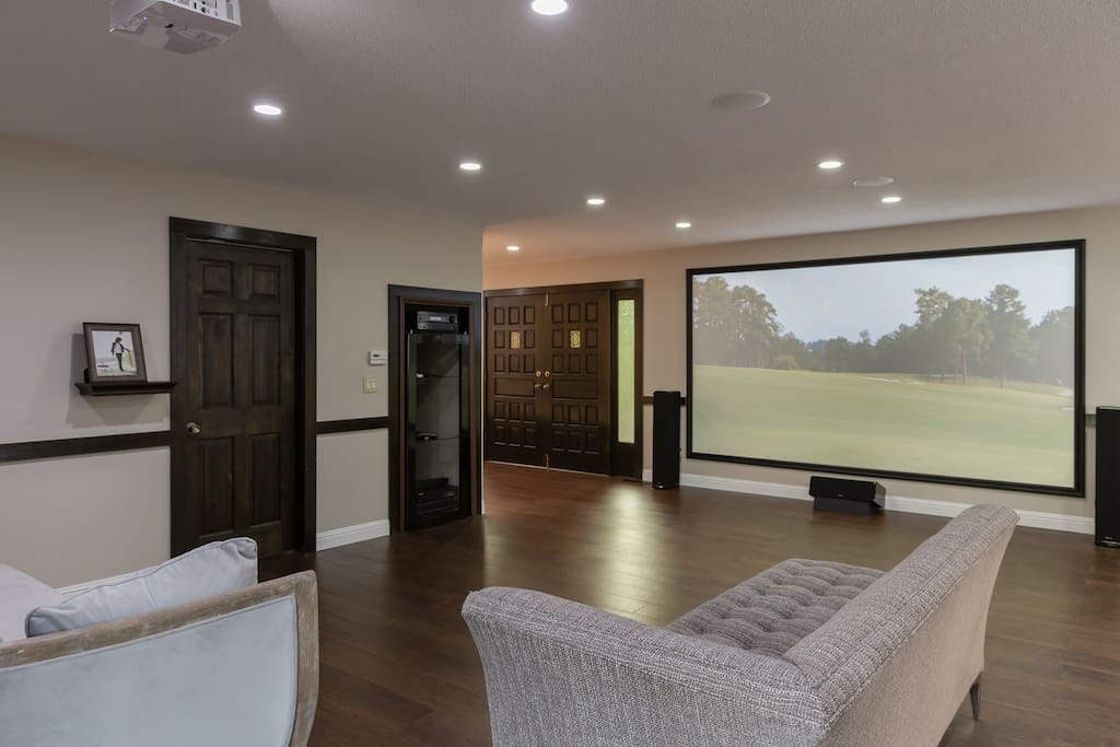 State of the ART Home Theater w/ 16 Feet Screen & Definitive Tech Speakers