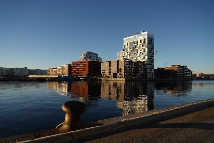 Room at the water front in Nordhavn, Copenhagen