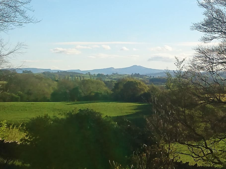 View to Brecon Beacons from main room