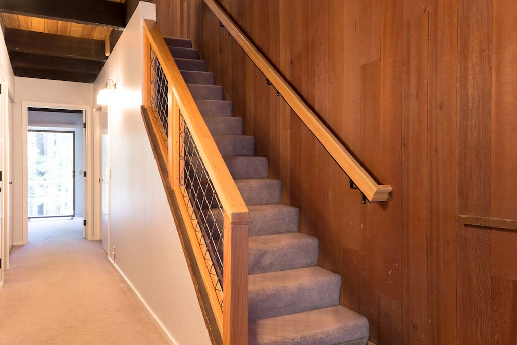 Enter into the first floor with 2 bedrooms and bathroom. Stairs will take you to the 2nd floor - the heart of the home!