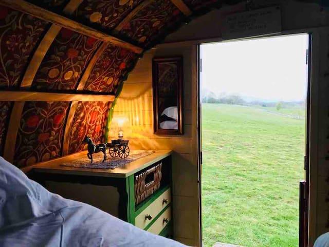 VALENTINES Glamorous Camping. Gypsy Wagon