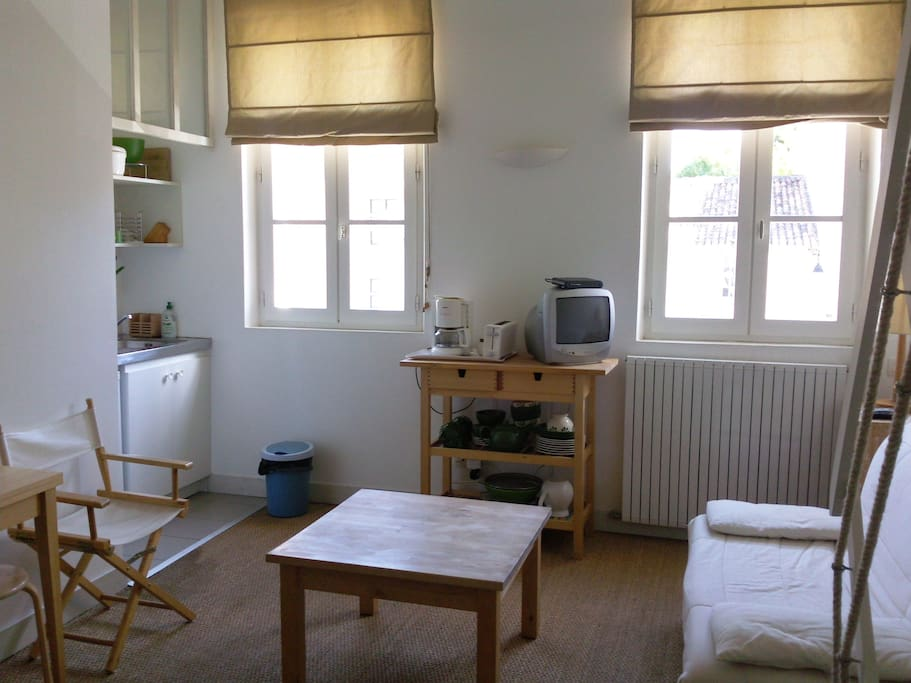 Studio 1 Espace salon et cuisine