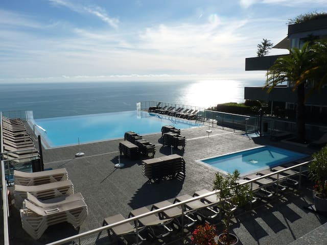 Magnificent sea view, large swimming pool - Cap-d'Ail - 公寓