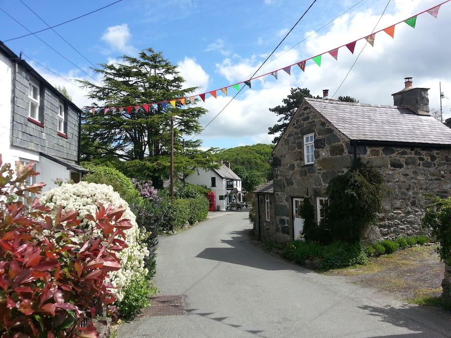 Rowen Village, pub within 100yards, serving food, Welsh singing every Friday night.