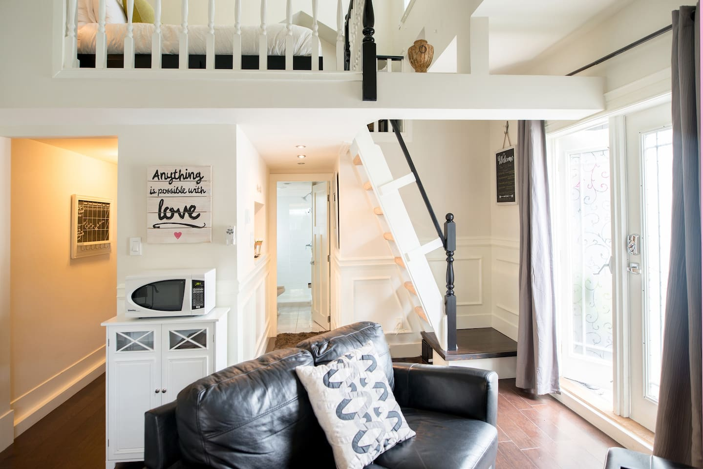 Beautiful studio with loft