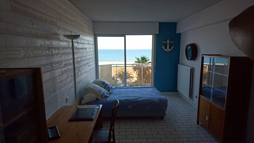 Face à la mer, plage direct!  2 chambres - Canet-en-Roussillon - Apartment