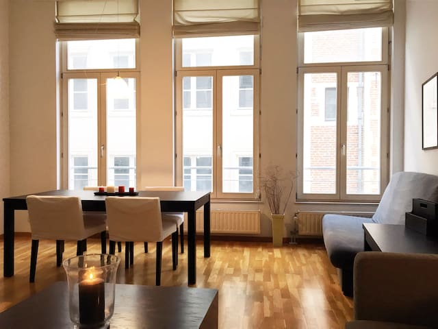 Very bright apartment 100m from la Grand Place