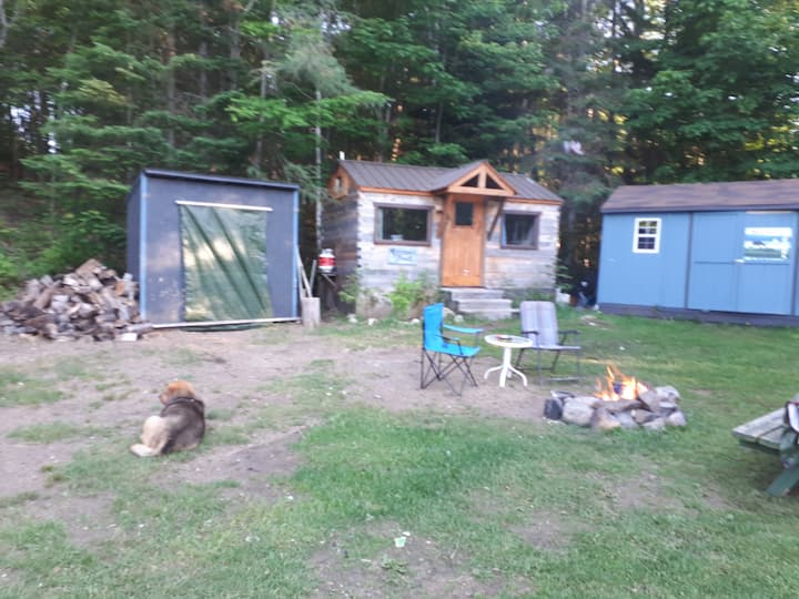 Small Log Cabin Off-grid Camp