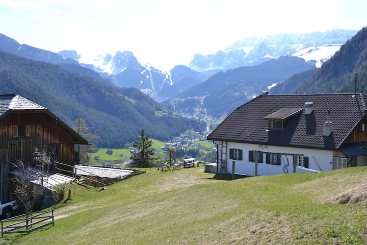 Country apartment Pilat with Dolomites view