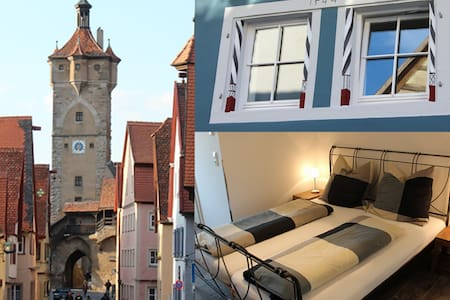 Modern apartment in the medieval center - Rothenburg ob der Tauber - Apartamento