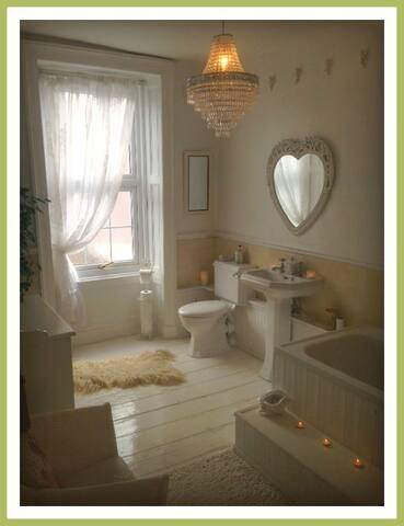 Beautiful large shared bathroom on the second floor