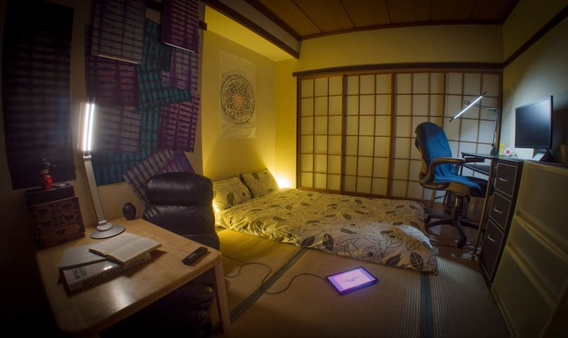 Tatami room in traditional Tokyo
