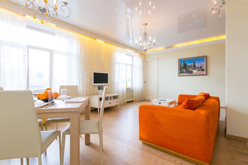 Living room 45 sq m
