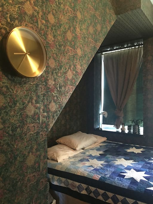 The room you'll be staying in has a queen bed and a full bath.
