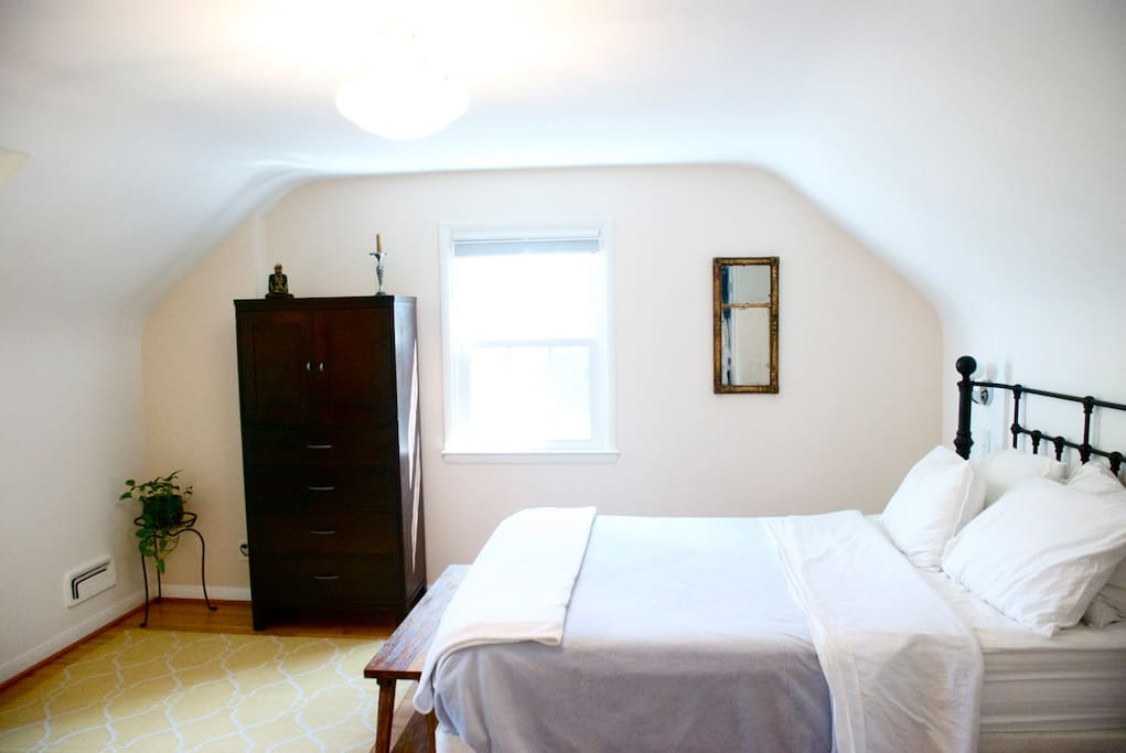 One private master bedroom - spacious and clean.