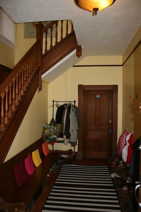 Entry room walking through front door.