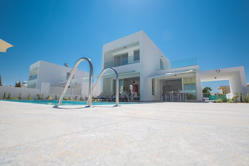 The view of the villa