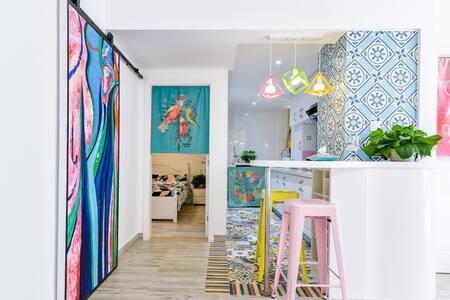彩色小屋精装二居室,邻万达近滇池、民族村 - 昆明市