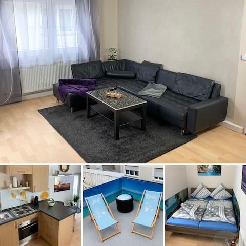 Sch★nes Apartment   2P.   Terrasse   WiFi   Modern