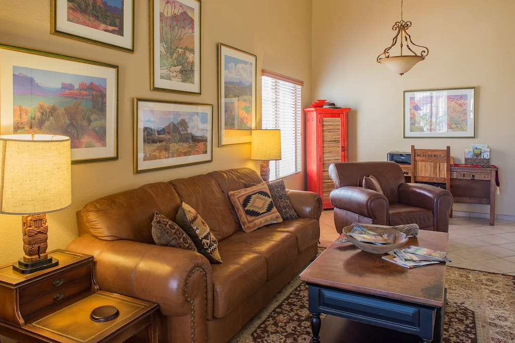 Spacious and comfortable  Arizona style living room
