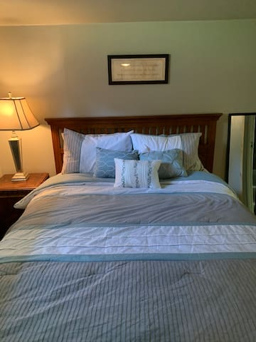 Nice plump comfortable queen size bed to lay your head