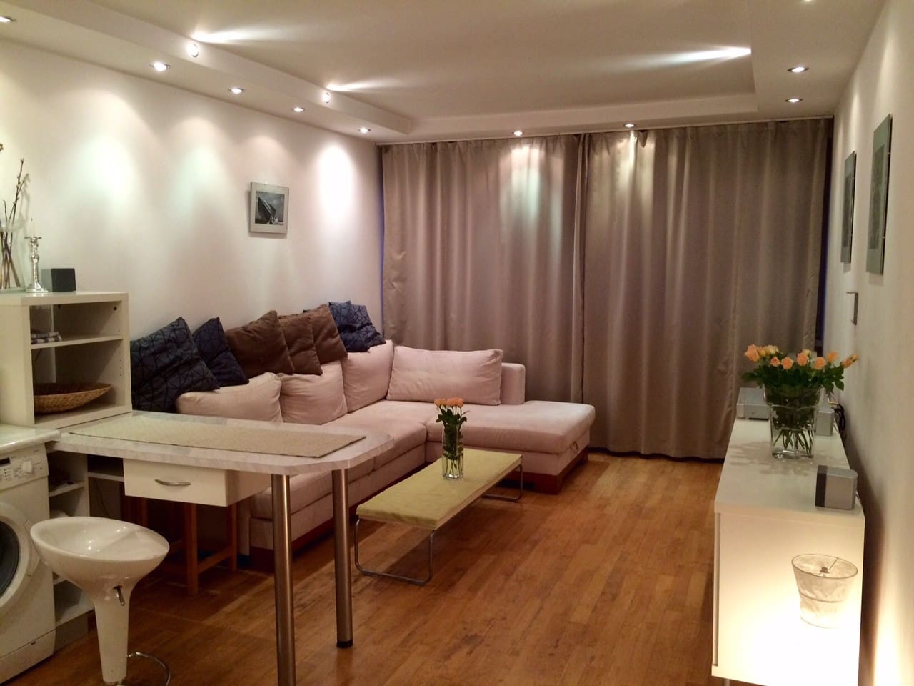 Living room with the reversible sofa