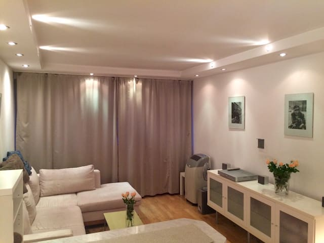 Living room, audio surround system