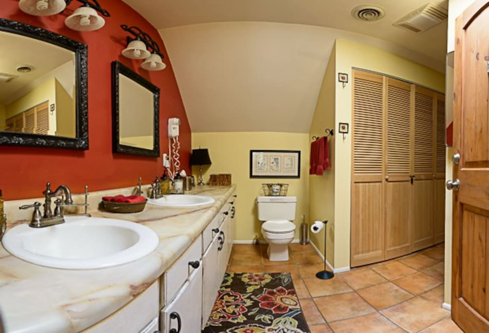 Very large private detached bathroom