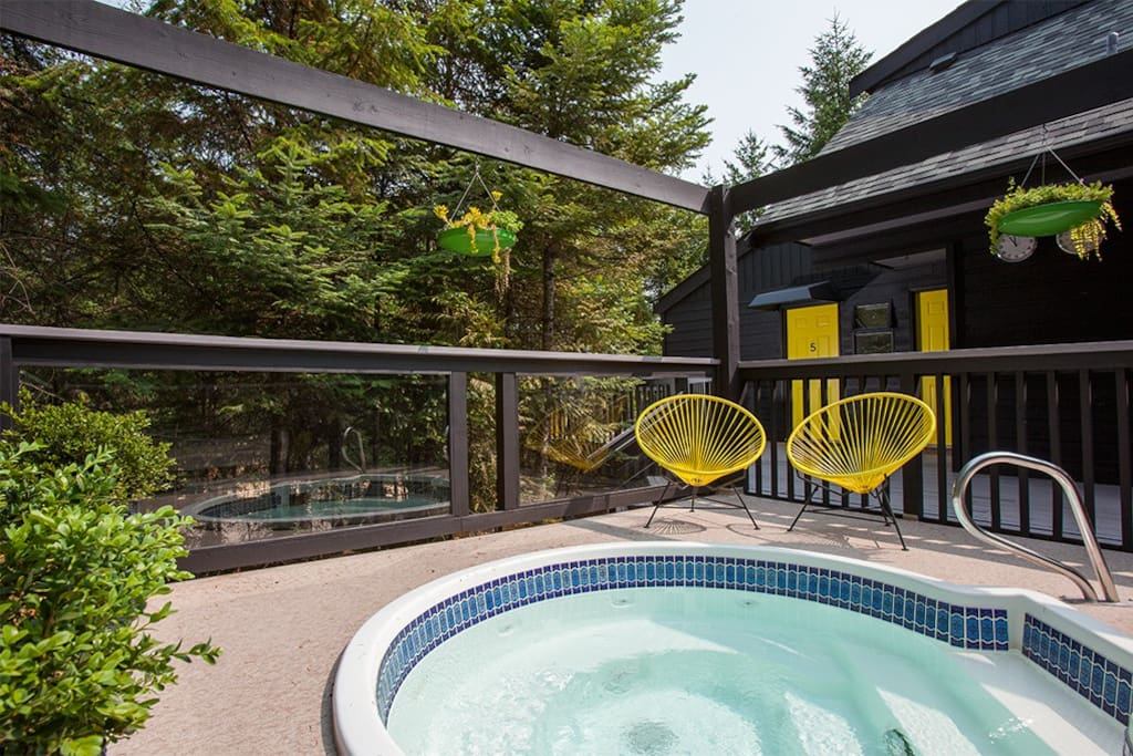 Lodge hot tub for all guests' use.