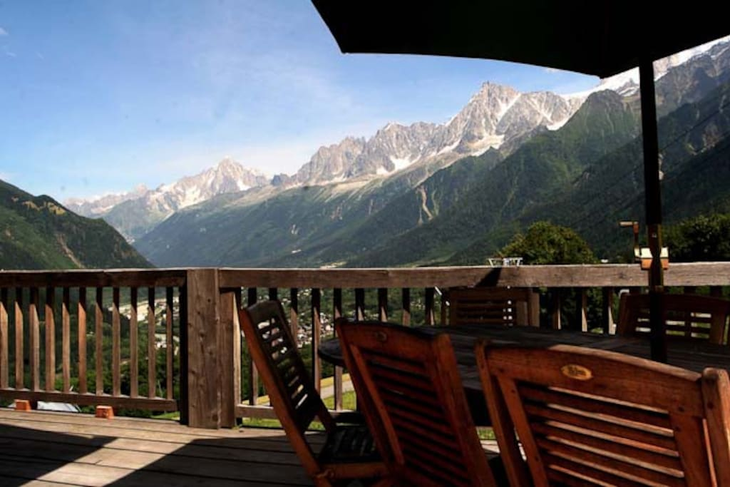 The chalet is also really popular in the summer months too as it offers a nice refuge from the heaving streets of Chamonix town center.  Instead you just dip in and out as you please and come back to a cool hot tub and surrounding meadows.
