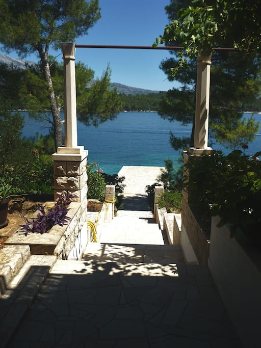 View of our dock