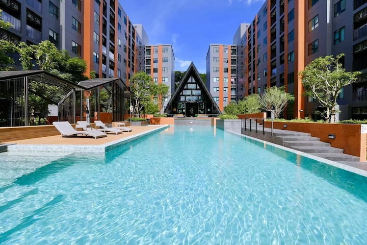 pool view清迈最大的购物中心central festival 尚泰百货院内公寓,出行生活便利