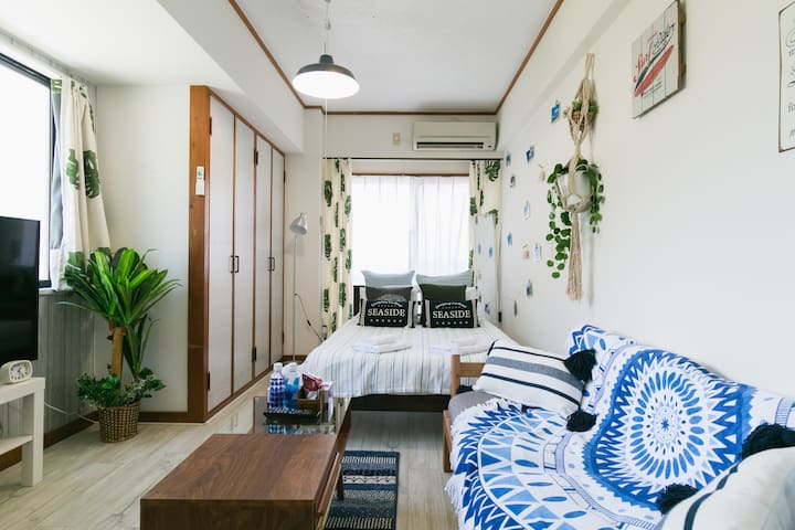Nago★NearBeach1BR#7★Free Parking/WiFi/Kid★Aquarium