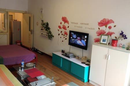 栈桥火车站附近上网两居室(4-5人)全套家居