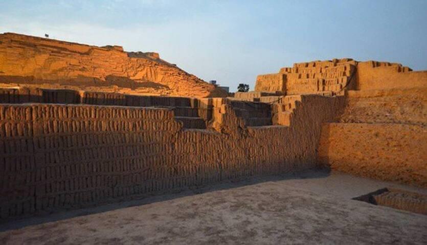 Huaca Pucllana (ruins) just 4 minutes walking