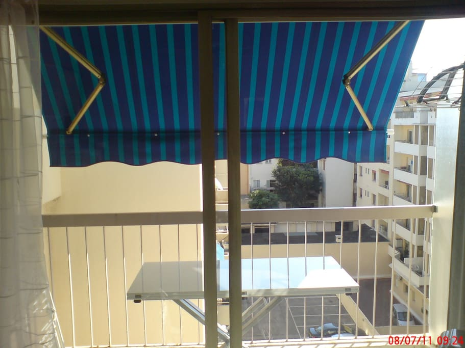 Balcon sur cour au calme