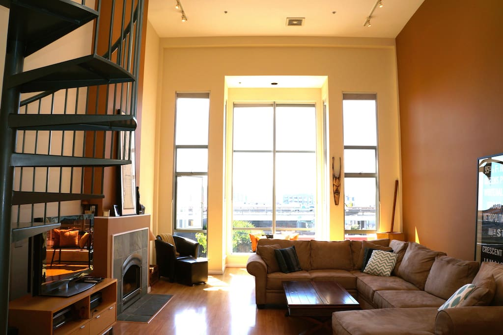 Double height Great Room with tons of natural.