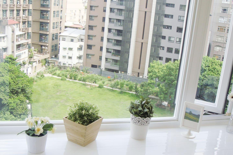 Nice View(大窗戶面公園採光好)