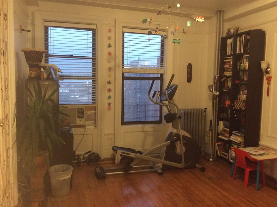 Feel free to use our elliptical while watching tv or enjoying the view!