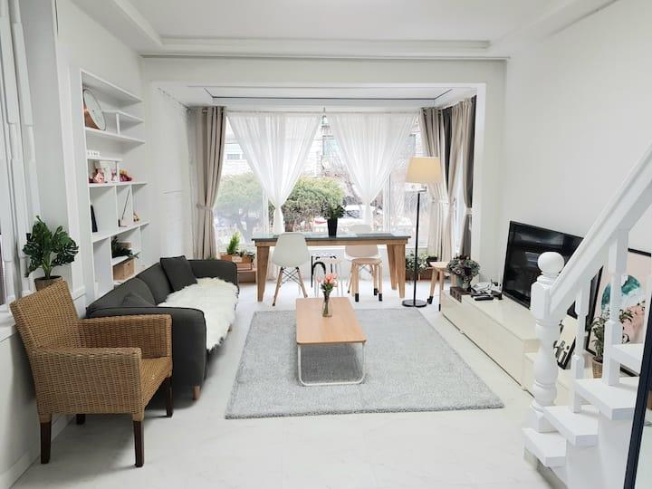 마당있는 단독주택 #리버 하우스 2층, #남양주, 장기숙박 가능