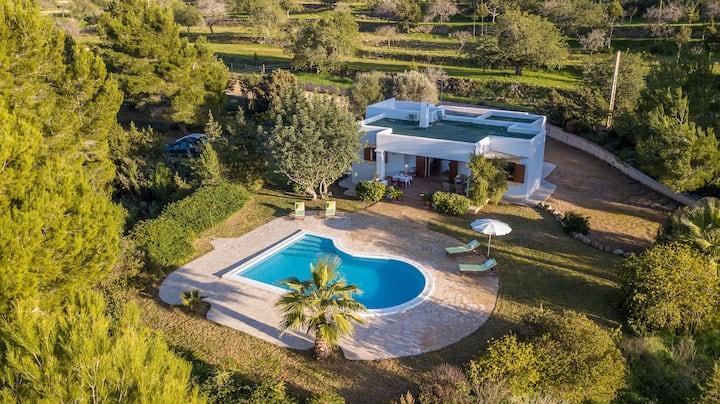Villa with Fantastic Sea View, Pool, Terrace, Wi-Fi, Pets Allowed