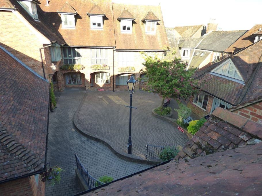 View over courtyard