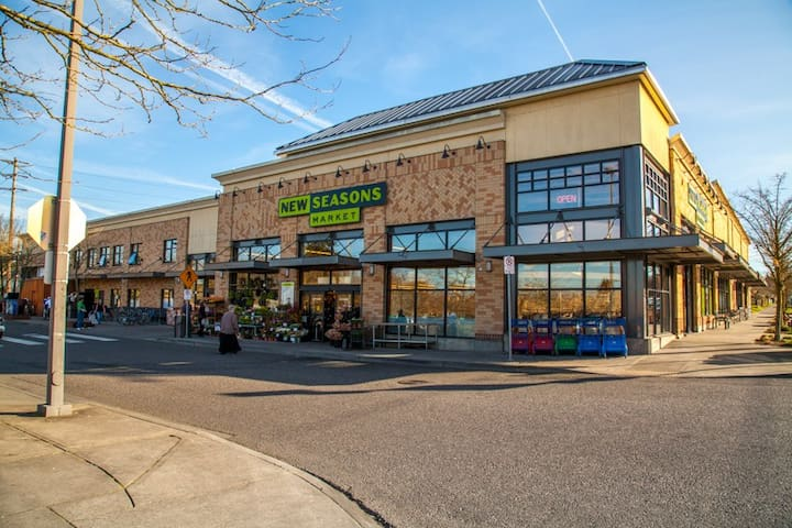 The local New Seasons Market is a quick walk from the Tiny House.