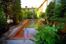 A quick walk from the house, the Kennedy School soaking pool. Open to the public, $5 per person for a relaxing soak.