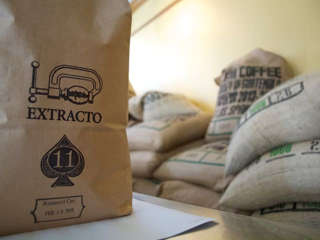 Extracto coffee shop is just a block away for hand crafted coffee in a warm and inviting cafe atmosphere.