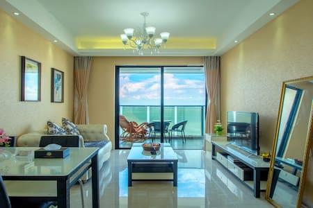老街、海底世界附近高层海景一房一厅双床套房 - Beihai